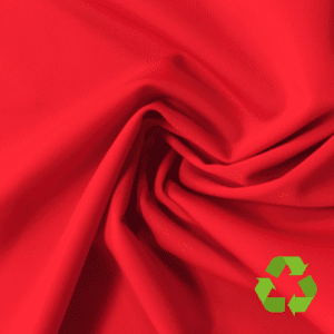 Radical Red Virtue Repreve® Recycled Polyester Spandex, red fabric, repreve fabric, recycled fabric, eco-friendly fabric, red swim fabric