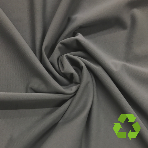 Grey Virtue Repreve® Recycled Polyester Spandex, grey fabric, repreve fabric, recycled fabric, eco-friendly fabric, grey swim fabric