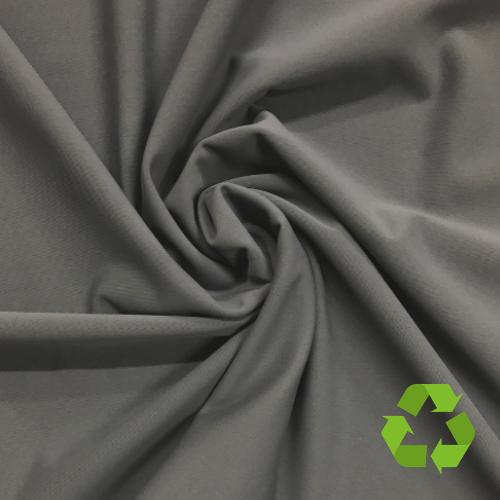 Grey Virtue Repreve® Recycled Polyester Spandex, grey fabric, repreve fabric, recycled fabric, eco-friendly fabric, grey swim fabric