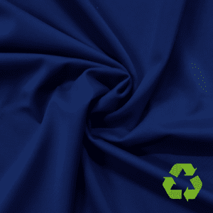 Sport Navy Virtue Repreve® Recycled Polyester Spandex, blue fabric, repreve fabric, recycled fabric, eco-friendly fabric, blue swim fabric