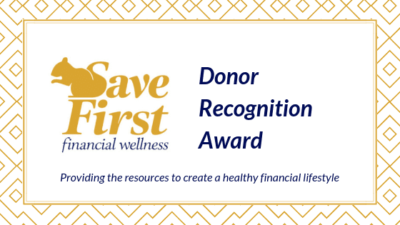 Donor recognition award