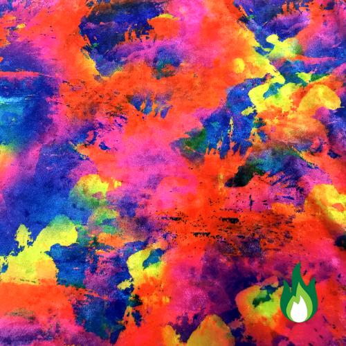 Rainbow Tie Dye Velvet Spandex, velvet fabric, velvet, tie dye velvet