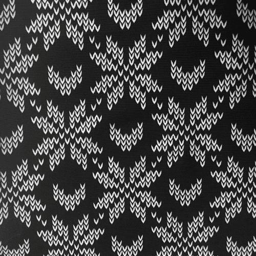 Snowflake Knit Spandex, black fabric, knit faric