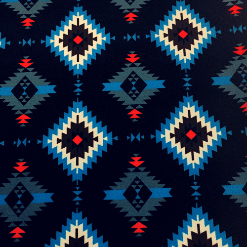 Geo Blizzard Spandex, geometric fabric, tribal fabric