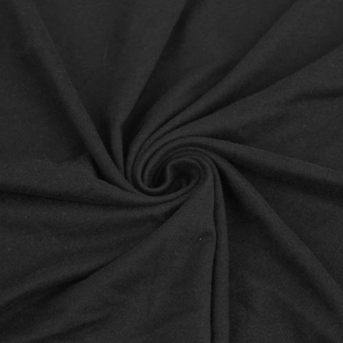 Black Double Brushed Spandex, black fabric, brushed fabric, soft black fabric, discount fabric