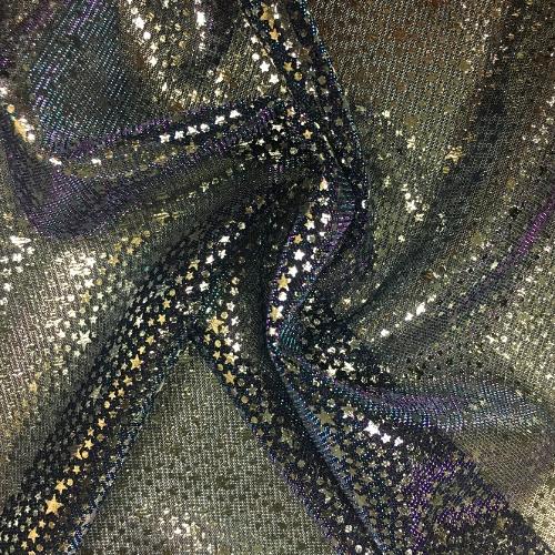 Star Foil Iridescent Fabric, mesh fabric, star fabric, star mesh