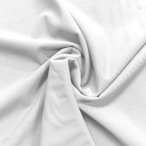 White Kira Matte Tricot Spandex, Whitet swim fabric, fabric printing, white fabric, tricot fabric