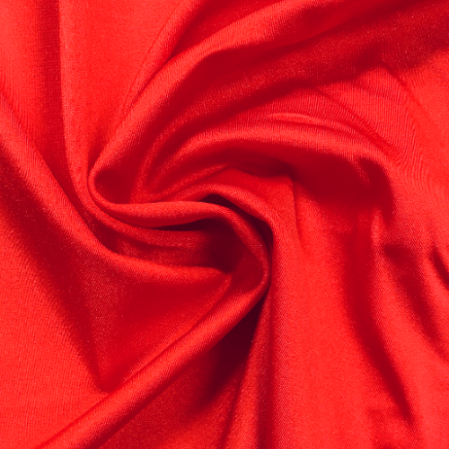 Red Shiny Tricot Spandex, red fabric, discount fabric
