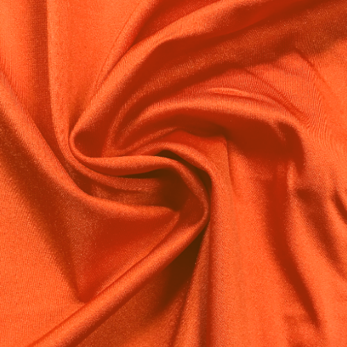 Orange Shiny Tricot Spandex, orange fabric, discount fabric