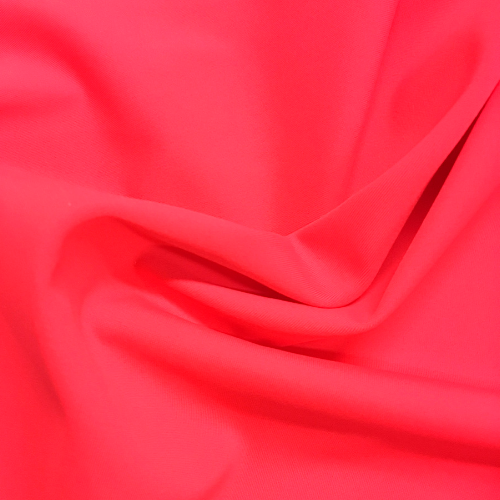 Psycho Red Kira Matte Tricot Spandex, pink fabric, pink swim fabric, swim fabric, swimwear fabric, tricot fabric