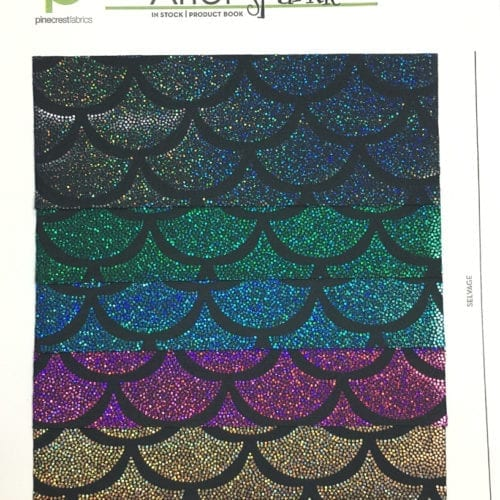 Ariel Sparkle Card, mermaid fabric, sparkly mermaid fabric, mermaid scale fabric
