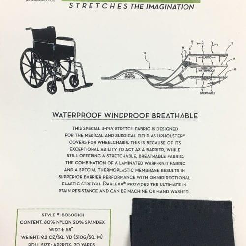 Darlexx Card, wheelchair fabric, darlexx fabric, medical fabric