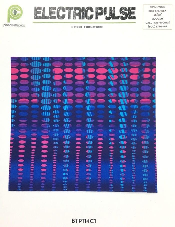 Electric Pulse Card, abstract fabric, print fabric, swim fabric
