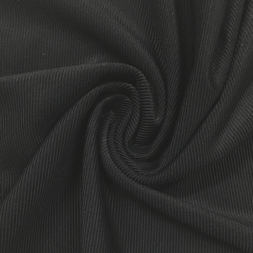 Black Ribbed Swim Spandex, Ribbed fabric, textured fabric, stripe fabric, textured stripe fabric
