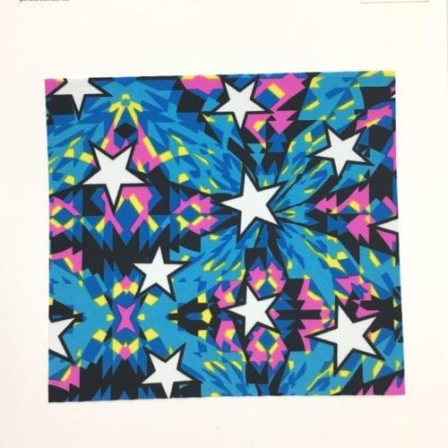 Kaleidoscope Stars Card, star fabric, kaleidoscope fabric, print fabric, star print fabric