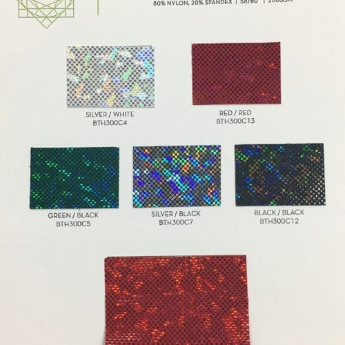 Kaleidoscope Holo Card, Holographic fabric, holo fabric, dance fabric, gymanstics fabric, costume fabric