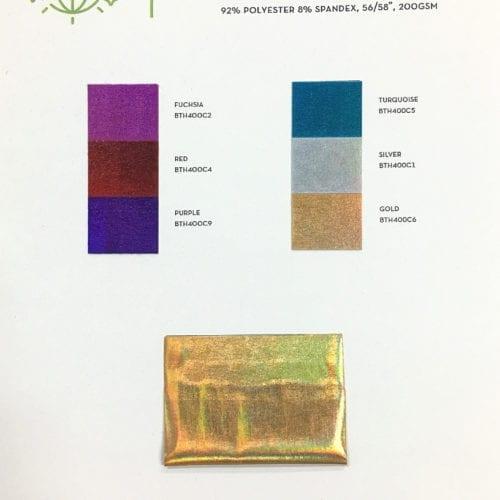 Liquefy Card, Liquid Holo fabric, liquid hologram fabric, holographic fabric