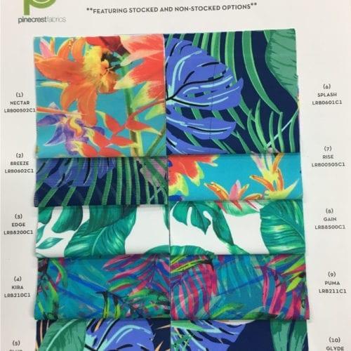 Nylon Pick A Print Card, nylon fabric, nylon fabrics, fabric printing, custom fabric print