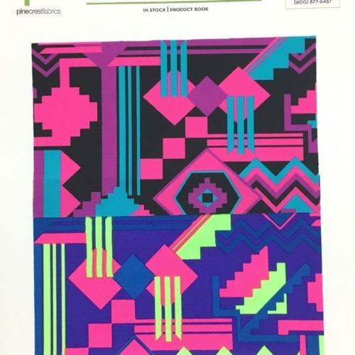 Santa Fe Card, geometric fabric, geo fabric, tribal fabric, swim fabric