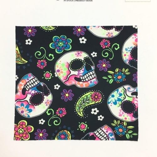 Sugar Skulls Card, sugar skulls fabric, skulls fabric, skull fabric, sugar skull fabric