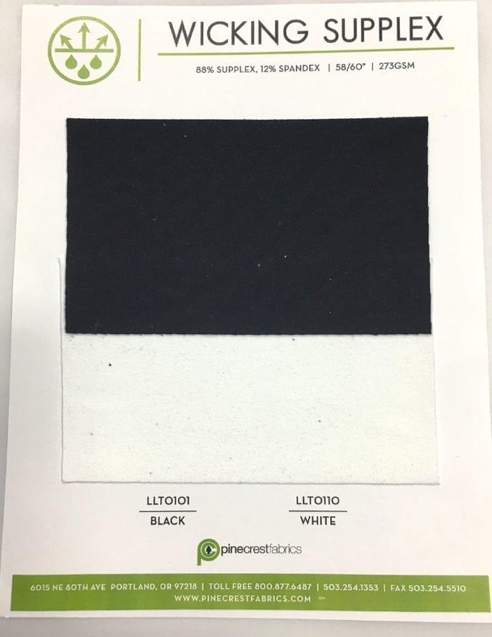 Wicking Supplex Card, wicking fabric, supplex fabric, black supplex, yoga fabric