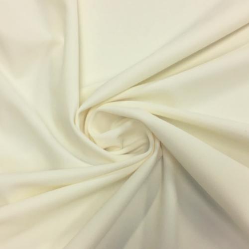 Ivory Kira Matte Tricot Spandex, ivory fabric, ivory swim fabric, swim fabric, swimwear fabric, tricot fabric