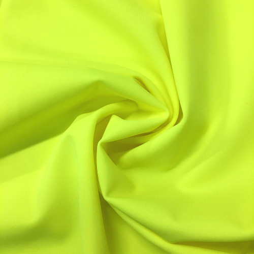 Acid Yellow Kira Matte Tricot Spandex, yellow fabric, yellow swim fabric, swim fabric, swimwear fabric, tricot fabric, neon fabric