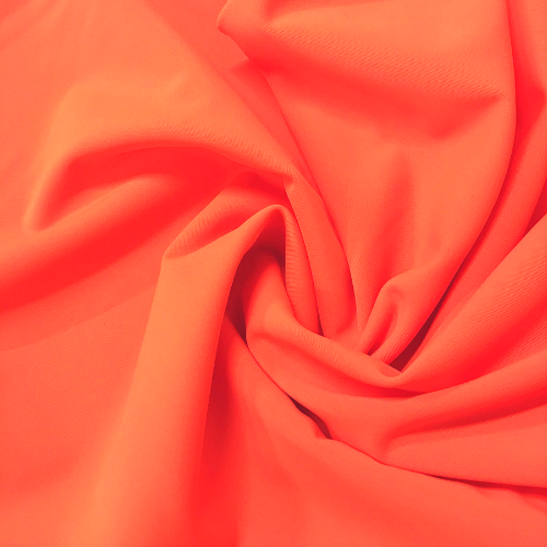 Bright Orange Kira Matte Tricot Spandex, orange fabric, orange swim fabric, swim fabric, swimwear fabric, tricot fabric