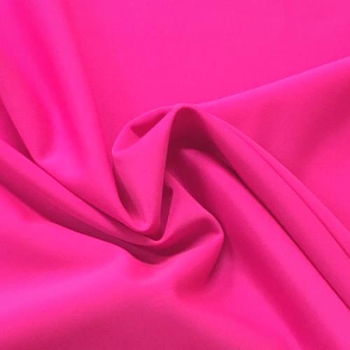 Neon Pink Kira Matte Tricot Spandex, pink fabric, pink swim fabric, swim fabric, swimwear fabric, tricot fabric