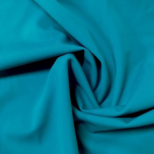 Hot Teal Kira Matte Tricot Spandex, blue fabric, teal fabric, mint swim fabric, swim fabric, swimwear fabric, tricot fabric