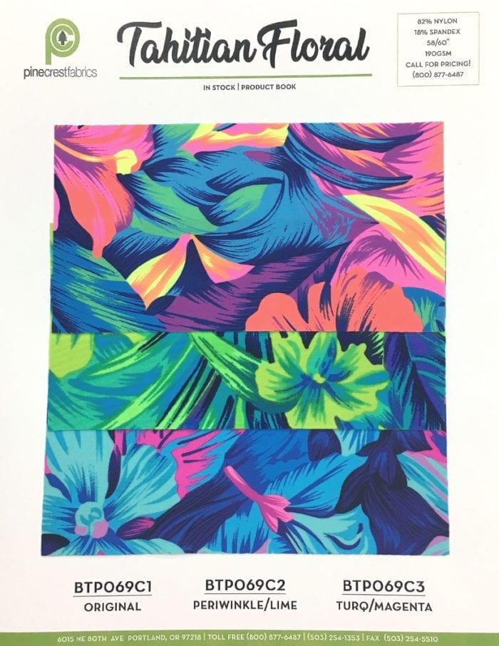 Tahitian Floral Card, floral fabric, hawaiian print fabric, hawaiian fabric, tropical fabric