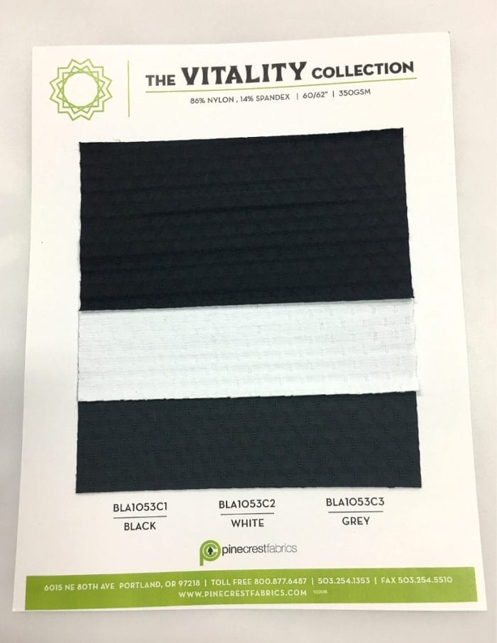 Vitality Card, textured fabric, texture fabric, activewear fabric, yoga fabric