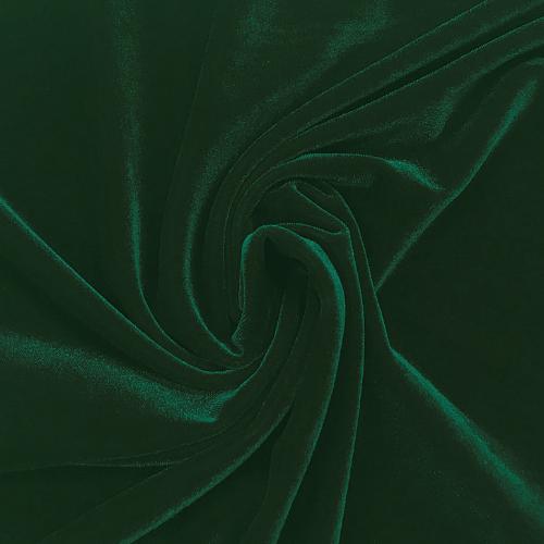 Deep Green Velvet Spandex, green velvet, stretch velvet, velvet fabric