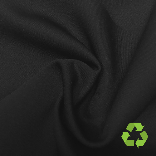 Black Endurance Heavy Repreve® Recycled Polyester Spandex, activewear fabric,black fabric, repreve fabric, recycled fabric, eco-friendly fabric, leggings fabric