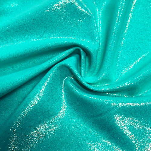 Mint Pixie Glow Spandex, mint fabric, blue fabric, foil fabric, swim fabric