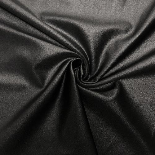 Black Lucid Cire Spandex, cire fabric, athleisure fabric, acitvewear fabric, black fabric