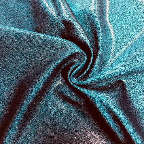 Teal Dark Jewels Spandex, dance fabric, teal fabric, foil fabric, rave fabric, gymnastics fabric