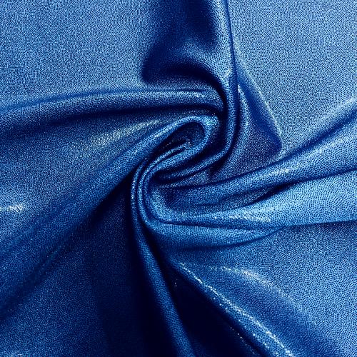 Blue Dark Jewels Spandex, dance fabric, blue fabric, foil fabric, rave fabric, gymnastics fabric