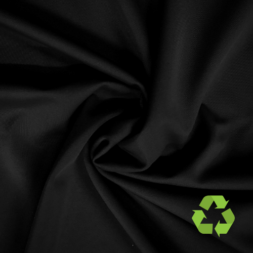 Black Endurance Air Repreve® Recycled Polyester Spandex, recycled fabric, eco-friendly fabric, plastic water bottle fabric, sustainable fabric