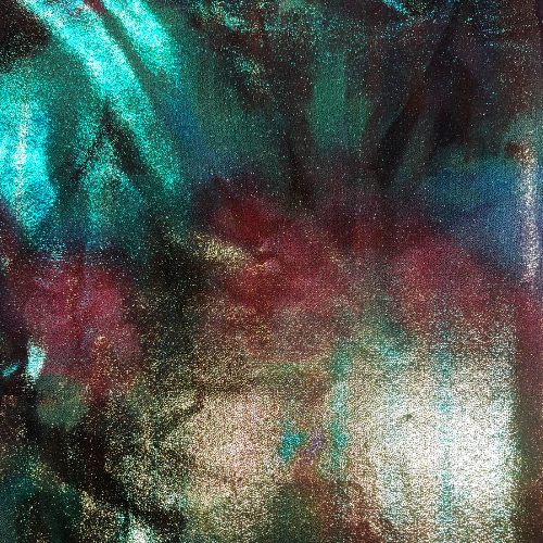 Tie Dye Iridescent Foil Spandex, tie dye fabric, iridescent foil fabric, foil fabric, tie-dye fabric