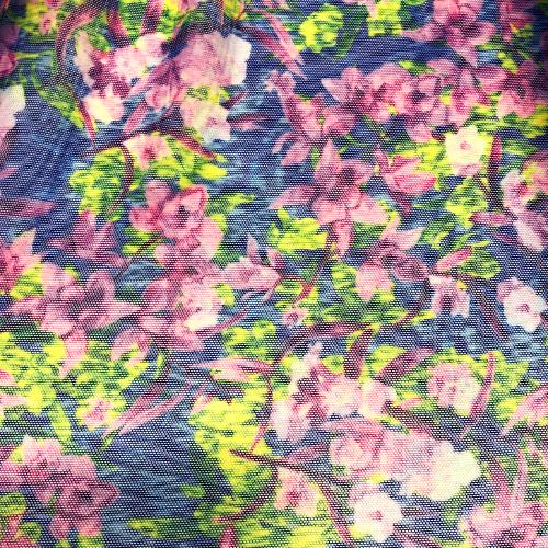 Underwater Floral Mesh Spandex, discount fabric