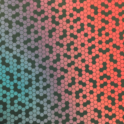 Crystallize Drifit Spandex, drifit fabric, geometric fabric, discount fabric