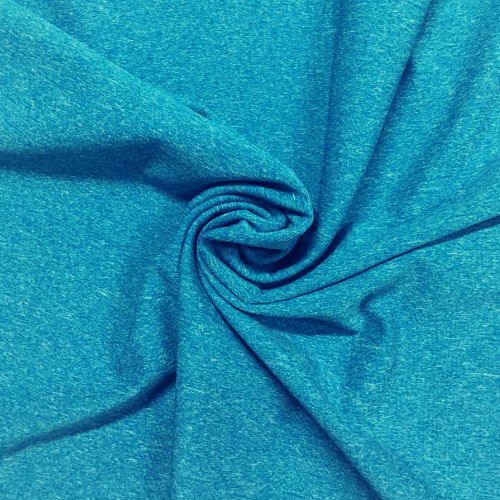 Dharma Heathered Turquoise Spandex, heathered fabric, blue fabric, discount fabric, performance fabric