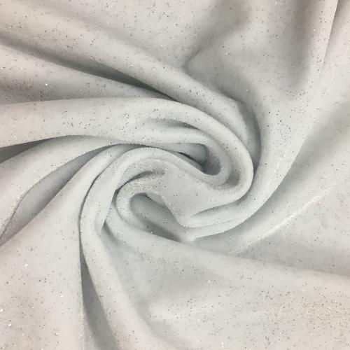 White Twinkle Velvet Spandex, glitter velvet, white velvet, velvet fabric, stretch velvet fabric, glitter velvet fabric