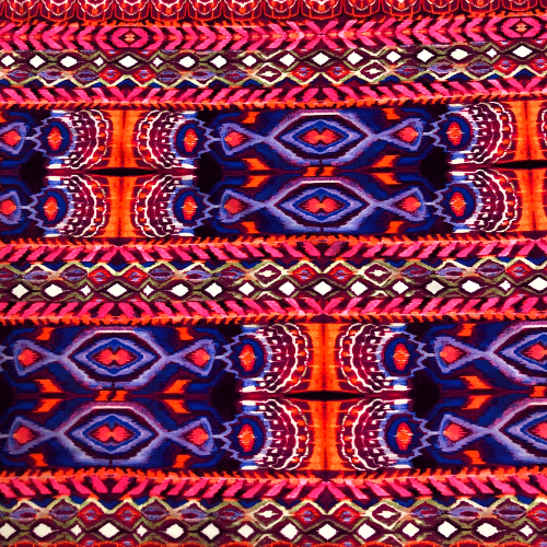 Red Eyes Spandex, folk fabric, discount fabric