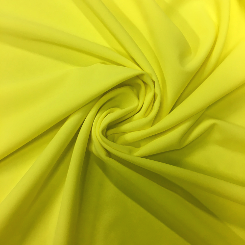 Lemon Yellow Spandex, yellow fabric, discount fabric