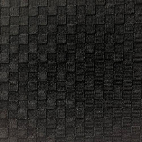 Black Textured Squares Spandex, textured fabric, swimwear fabric, textured simw fabric, texture fabric