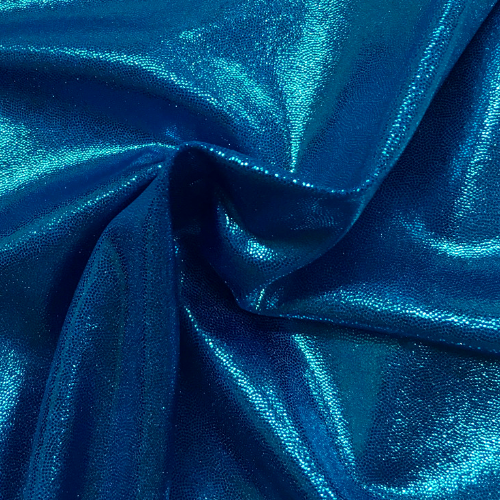 Turquoise Color Poly Jewels Spandex, blue fabric, fabric printing, discount fabric