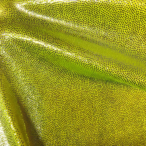 Neon Yellow Silver Sparkle Spandex, neon yellow fabric, foil fabric, dance fabric, discount fabric