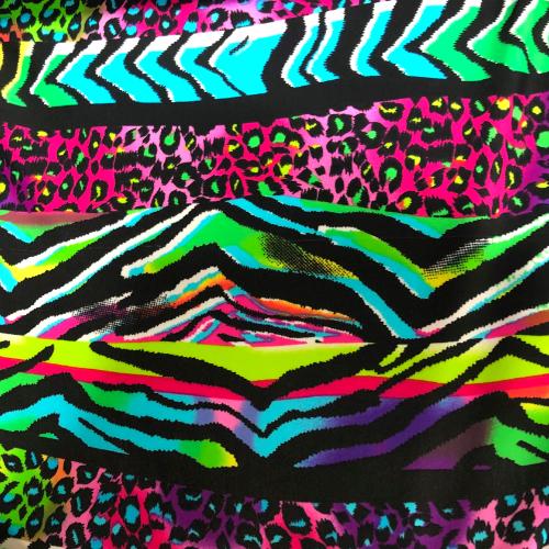 Rainbow Multi Animal Spandex, animal print fabric, discount fabric
